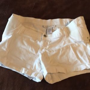 Maternity white shorts